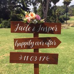 Rustic Wedding Directional Signs. Wooden Wedding Welcome Sign. Wedding Decoration. Fun Wedding Signs. by FoxAndHart on Etsy
