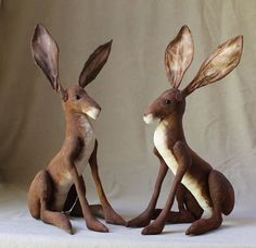 Brown Hare  Pdf sewing pattern instant download by EmmaHallArt