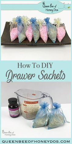 How to DIY Drawer Sachets | DIY | Laundry | Cleaning Tips