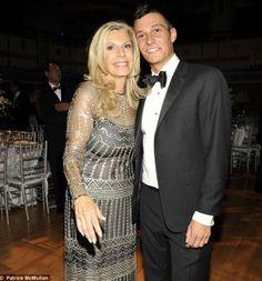 Princess Yasmin Aga Khan and son Andrew
