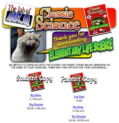 Free Life Science curriculum.  Goes with weeks 1-12 of CC cycle 1.