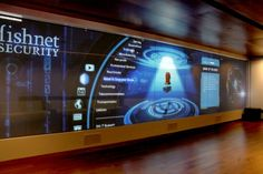 This Is One Large Interactive Touch Screen