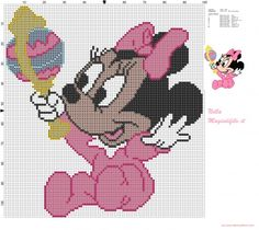 Baby Minnie Mouse with rattle