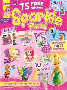 Sparkle World Magazine for ONLY $13.99 – JUST $2.33 Per Magazine    Sparkle World is a magazine for girls ages 3 and up. This magazine subscription features Care Bears, Strawberry Shortcake, Angelina Ballerina, and more as they open a world of excitement and learning for your little princess. Each issue is packed with stories, sparkling projects, a pull-out workbook and a poster.    http://www.frugallivingandhavingfun.com/2013/03/sparkle-world-magazine-for-only-13-99-just-2-33-per-magazine/