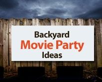 Outdoor movie parties would be so much fun!