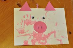 Tot School : The Three Little Pigs Use paper plate instead of square paper Kids Crafts, Preschool Projects, Daycare Crafts, Classroom Crafts, Toddler Crafts, Preschool Crafts, 3 Little Pigs Activities, Farm Activities, Preschool Activities