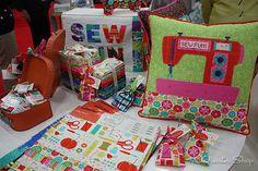Gina Martin's Sewing Box at Quilt Market by Fat Quarter Shop, via Flickr