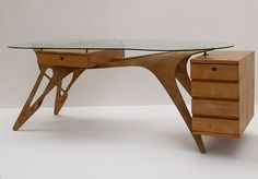 Incredible desk for a home office by Carlo Mollino