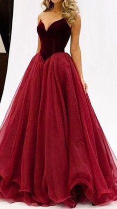 2016 elegant, wine red tulle long poofy prom dress, wedding dress