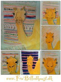Fru Billedkunst - NY ADRESSE - www.FruBilledkunst.dk: Kamel foran tæppe - 2.klasse