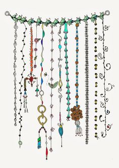 Lovely Zenspirations Dangle Design by Morticia's Parlor: Handmade and a Little Zen