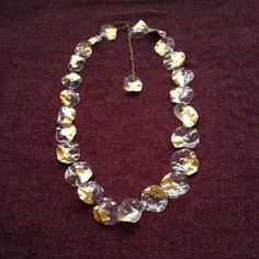 plastic; new gold necklaces