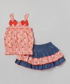 This precious pair has little ladies ready for a day of play! A matching top and skirt are trendy together, while each piece looks just as good paired with other closet favorites. A soft construction means gals stay comfy as can be while looking sweetly stylish.