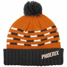 adidas Phoenix Suns Ladies Knit Hat with Pom - Gray Orange 31ac04931