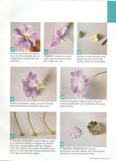 Todo Flores de Porcelana Fria: Flores Porcelana fria: Primula paso a paso 01