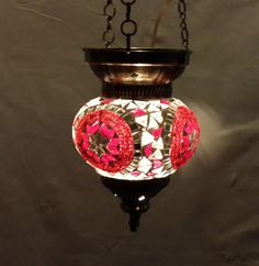 Moroccan lantern mosaic hanging lamp glass chandelier light lampen candle m 010  #Handmade #Moroccan