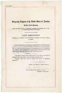 On this day in 1920, Congress made  history when it ratified the 19th Amendment, guaranteeing all American women the right to vote (official document)