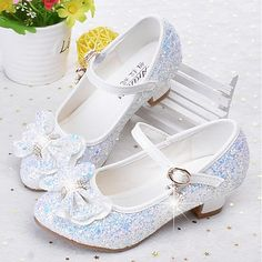 Girls' Shoes Faux Leather Spring & Fall Flower Girl Shoes Heels Rhinestone for Kids / Teenager White / Blue / Pink Cheap Dress Shoes, Cheap Girls Shoes, Girls Shoes Online, Flower Girl Shoes, Baby Girl Shoes, Kid Shoes, Shoes Heels, Baby Boots, Little Girl Heels
