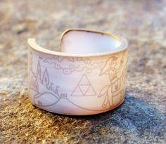Legend of Zelda Ring - Woodcut style $8.50
