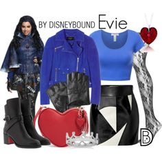Disney Character Costume Get the look! Disneybound Inspiration for your next Disney trip! Les Descendants, Descendants Costumes, Disney Themed Outfits, Disney Bound Outfits, Casual Cosplay, Cosplay Outfits, Evie Costume, Evie Halloween Costume, Estilo Disney