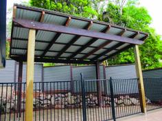 Corrugated Metal Pergola Top Deck Roof By Greenfrieda Via