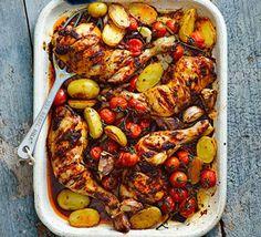 Harissa chicken traybake gluten free