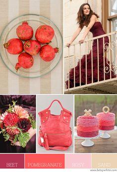 Beet, Pomegranate, Rosy & Sand