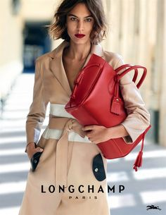 Alexa Chung for Longchamp Spring/Summer 2016 by Peter Lingbergh