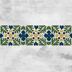 Moroccan Stencils | Fez Block Border Stencil | Royal Design Studio