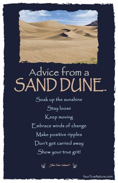 Advice from a Sand Dune- Postcard-Your True Nature