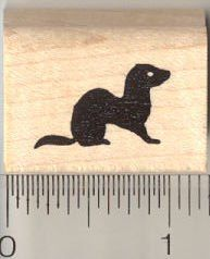 Tiny Ferret Silhouette Rubber Stamp ** Check this awesome product by going to the link at the image.