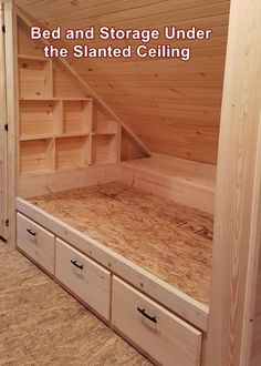 If you have an attic that you would like to convert into a bedroom and it has those slanted ceilings this list of ideas will help maximize that space. Slanted Ceiling Bedroom, Slanted Walls, Bed Under Sloped Ceiling, Rooms With Slanted Ceilings, Attic Bedrooms, Upstairs Bedroom, Attic Renovation, Attic Remodel, Attic Spaces