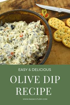 This amazing olive dip is made from cream cheese and olives. This olive dip recipe is delicious spread on crackers or veggies! Tapenade, Yummy Appetizers, Appetizer Recipes, Simple Appetizers, Appetizer Dips, Cracker Dip, Salsa, Olive Recipes, Recipes With Olives