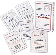 Amazon.com: Wise Man Foolish Man Family Card Game: Fun and Educational Christian Game for Kids and Families; Fun Bible Game That Teaches About Personal Character and Proverbs; Perfect for Family Game Night: Toys & Games Family Card Games, Card Games For Kids, Flower Bible Verse, Youth Games, Bible Games, Family Game Night, Proverbs, Place Card Holders, Christian