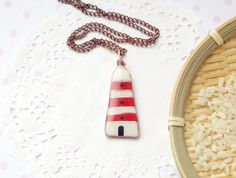 Lighthouse jewelry lighthouse necklace  with by CloverPowers