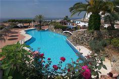 Lovely pool area in Nerja, Costa del Sol, Spain.
