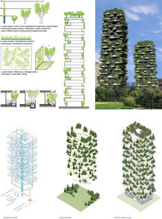 Vertical forest' Skyscrapers Coming To Milan : Photo from greendump net In Milan, a new kind of skyscraper is under construction Once complete later this year, the twobuilding project will be covered in greenery, an effect that gives the buil… - Architecture Durable, Futuristic Architecture, Concept Architecture, Sustainable Architecture, Amazing Architecture, Landscape Architecture, Landscape Design, Architecture Design, Classical Architecture