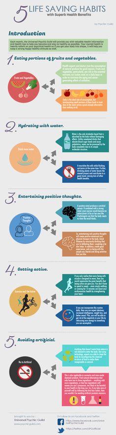 5 Life Saving Habits with Superb Health Benefits