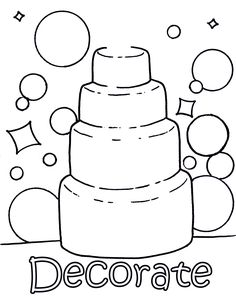coloring picture wedding cake colouring pageswedding coloring pagesfor kids coloring activities - Kids Colouring