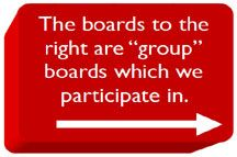 """These are group boards that we participate in.  We don't """"own"""" the boards and there are many others who contribute to them.  Group boards are a great way to find new information, especially if you participate in ones that are most relevant to you!"""