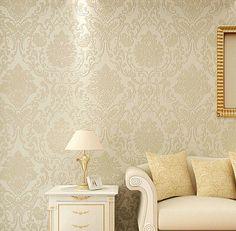 (Buy here: http://appdeal.ru/1zlc ) Non-woven metallic wall paper golden wallpaper modern background damask for living room bedroom for just US $49.00