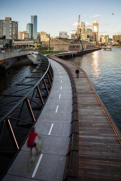 Jim Stynes Bridge in Melbourne, Australia