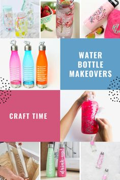 If one of your healthy living goals is to drink more water you are going to love these cute water bottle makeovers. Don't forget to download our free water tracker printable too!