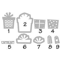 Amazon.com: Sizzix Gifts Triplits Dies by Stephanie Barnard, 9-Pack