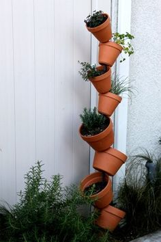 Vertical Gardening, Clever! easy to put together and great for doing small crop/herb planting.