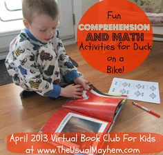 Comprehension and Math Questions for Duck on a Bike by David Shannon