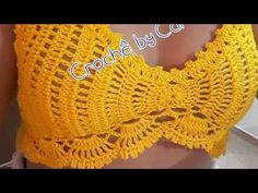 Crochet Summer Tops, Crochet Bikini Top, Crochet Top, Crochet Shirt, Crochet Cardigan, Crochet Yarn, Tops Tejidos A Crochet, Artisanats Denim, Quick Crochet