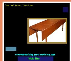 Drop Leaf Harvest Table Plans 204438 - Woodworking Plans and Projects!