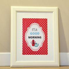 Affiche A4 It's a good morning Red par DodoetCath sur Etsy, €10.00