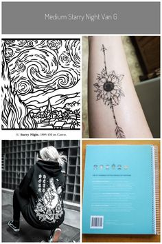 Medium Starry Night Van Gogh Coloring Pages#coloring #gogh #medium #night #pages #starry #van #medium tattoos